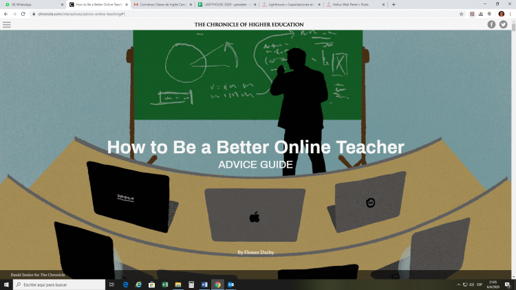 Imagen del blog How to be a better online teacher